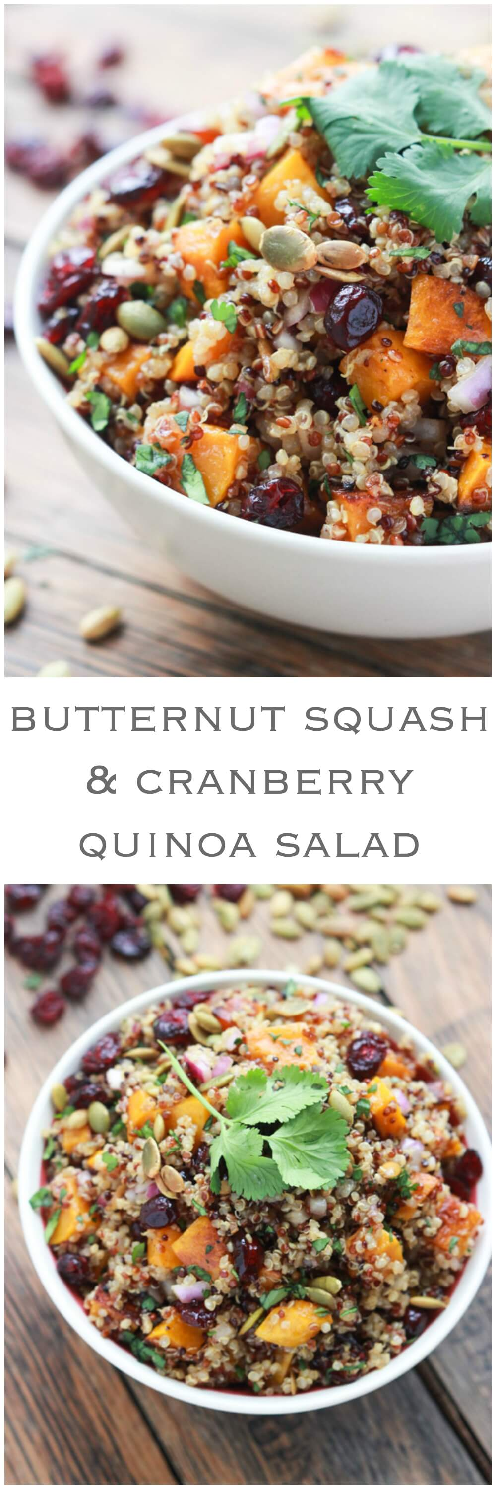 Red Quinoa With Butternut Squash, Cranberries And Pecans Recipes ...