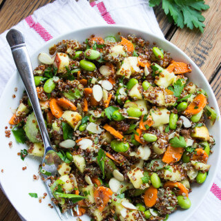 Edamame Quinoa and Apple Chopped Salad
