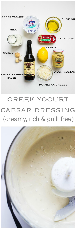Greek Yogurt Caesar Dressing - lightened up caesar dressing made with healthy greek yogurt and very little oil | littlebroken.com @littlebroken