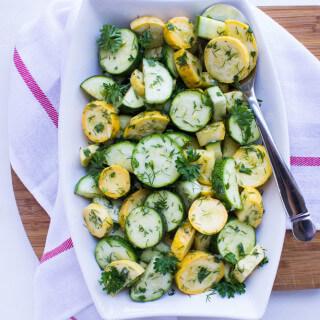Herbed Summer Squash Salad