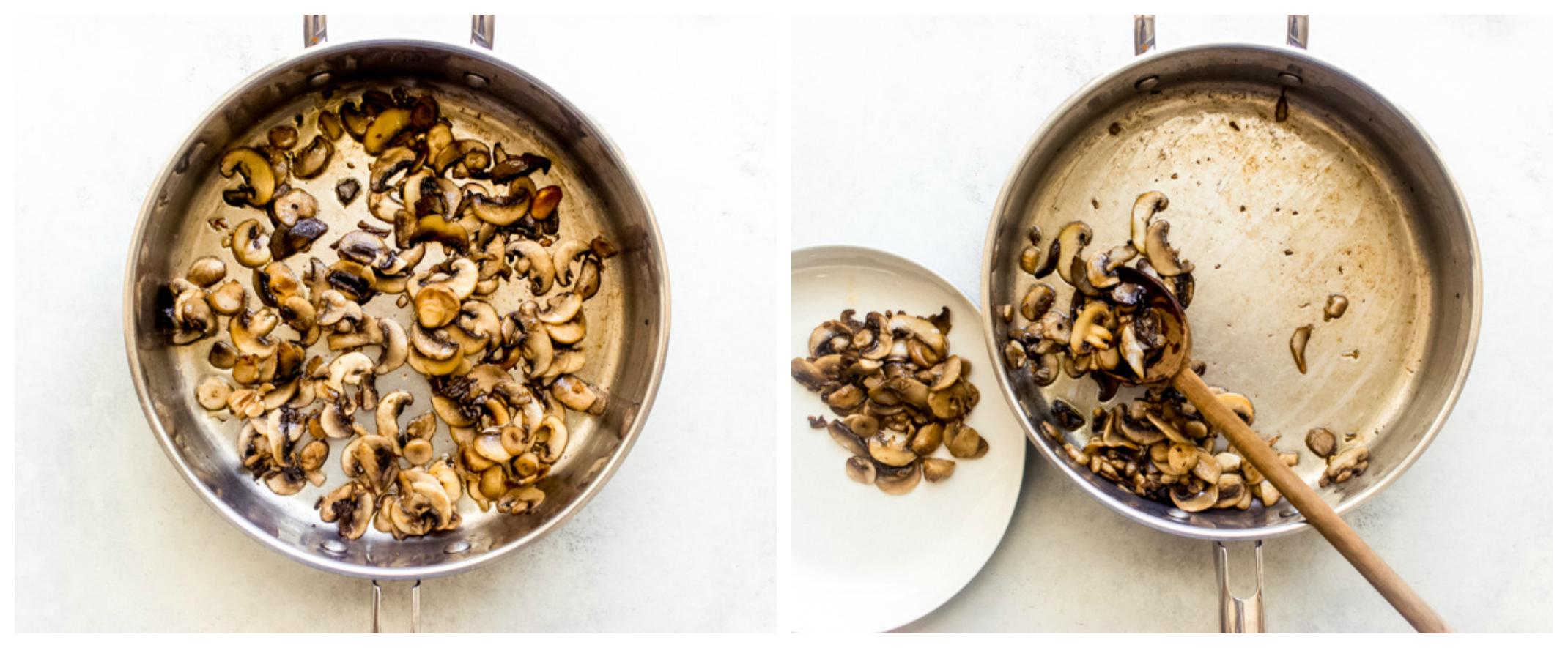 sauteed mushroom in skillet