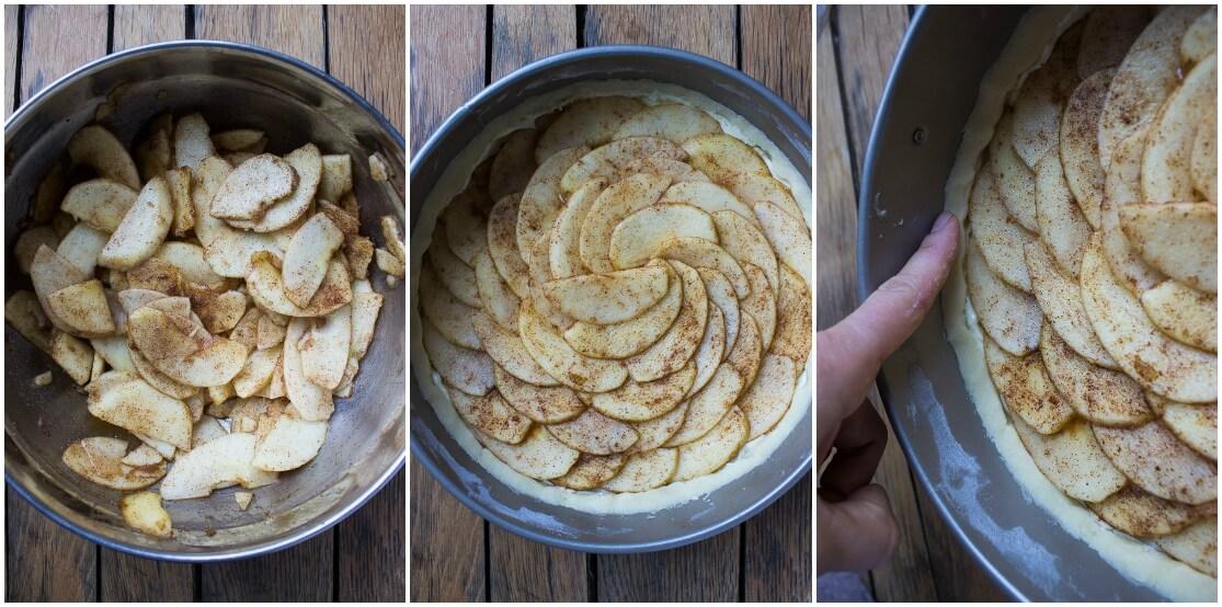 Rustic apple tart with buttery crust, almond cream cheese filling and sweet glaze | littlebroken.com @littlebroken