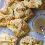 Apple Cheese Danishes with Caramel Glaze