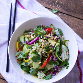 Asian Zucchini Noodle Salad Recipe