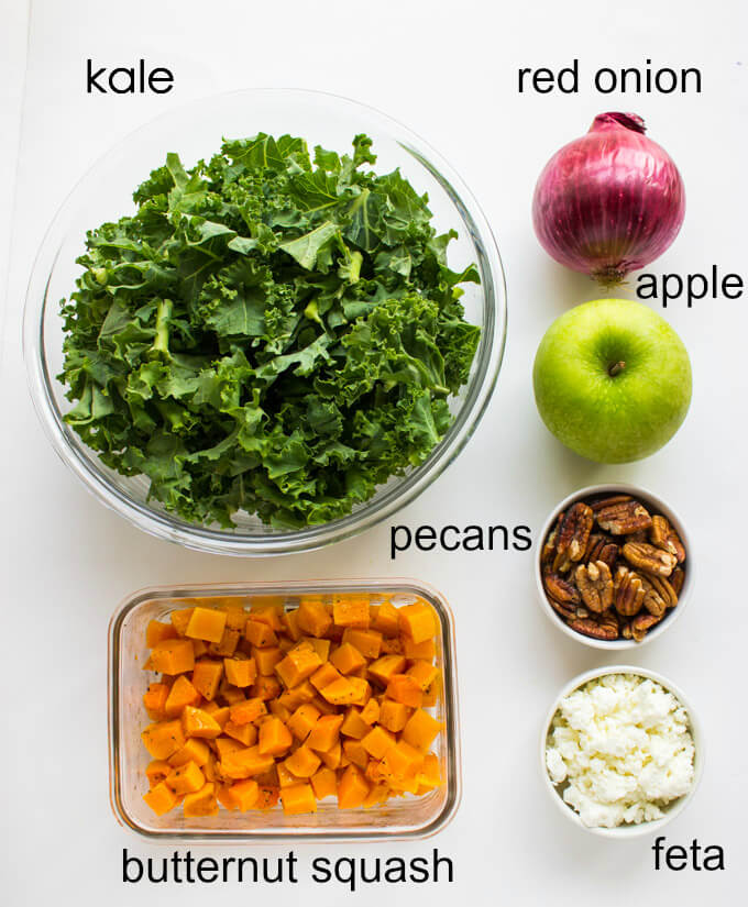 Kale, Butternut Squash and Apple Salad with Maple ...
