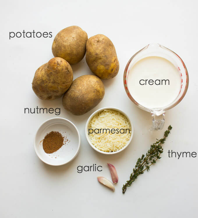 ingredients for potato stacks