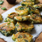 Leftover Mashed Potato Cakes with Spinach