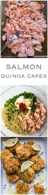 Salmon Quinoa Cakes  Transform Leftover Salmon Into These Delicious Super  Moist And Tender Cakes