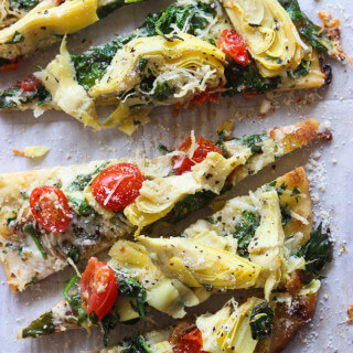Artichoke, Tomato and Spinach Flatbread
