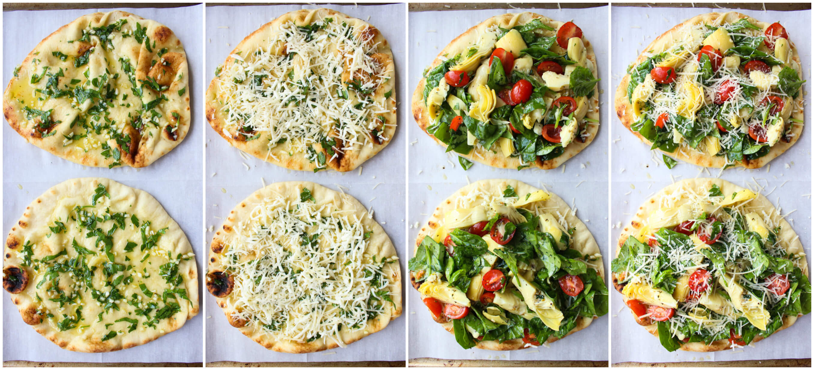 Artichoke Tomato and Spinach Flatbread - delicious and easy appetizer ...