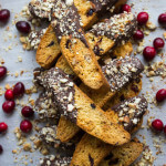 Dark Chocolate Cranberry Almond Biscotti