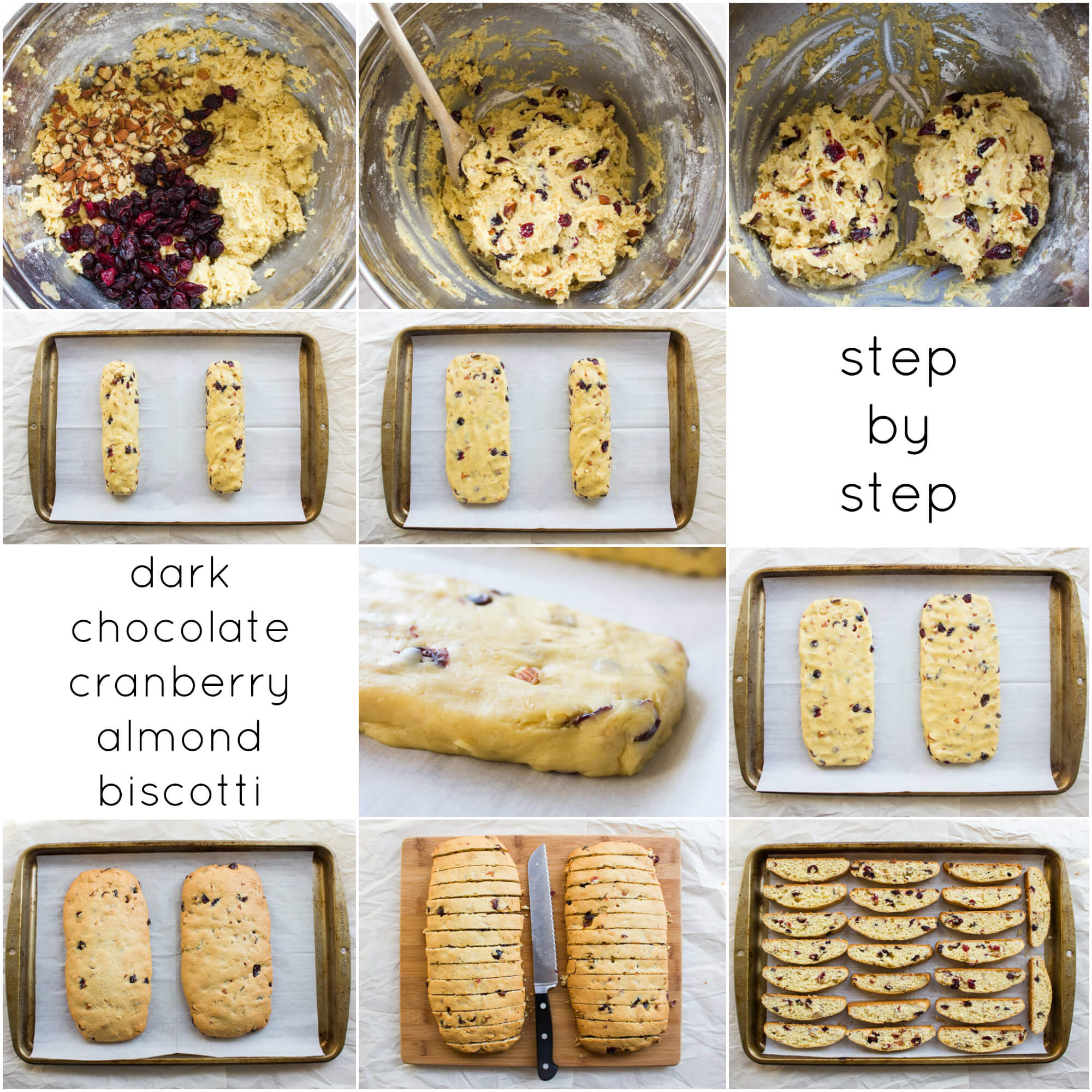 Dark Chocolate Cranberry Almond Biscotti - dunkable, crunchy, packed with almonds and cranberries, then dipped in dark rich chocolate. So addicting and full of flavor | littlebroken.com @littlebroken