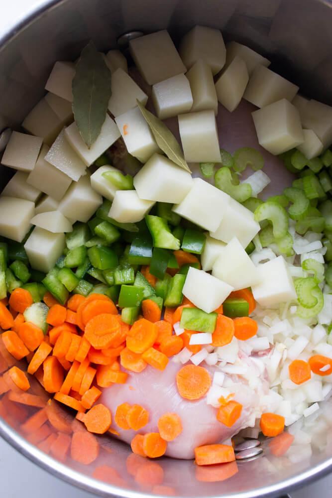 Sicilian Chicken Soup - All from scratch with tender chunks of veggies, ditalini pasta, and shredded chicken. Copy cat of Carrabba's chicken soup   littlebroken.com @littlebroken