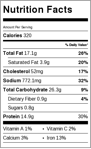4-Ingredient Easy Potstickers Nutrition Label | littlebroken.com @littlebroken