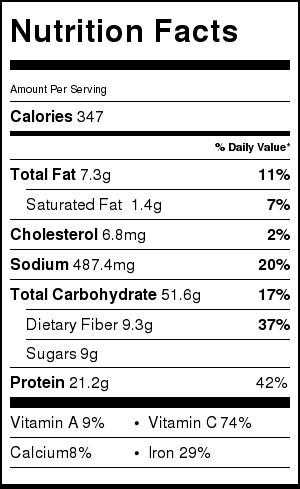 Lentil Chili Nutrition | littlebroken.com @littlebroken