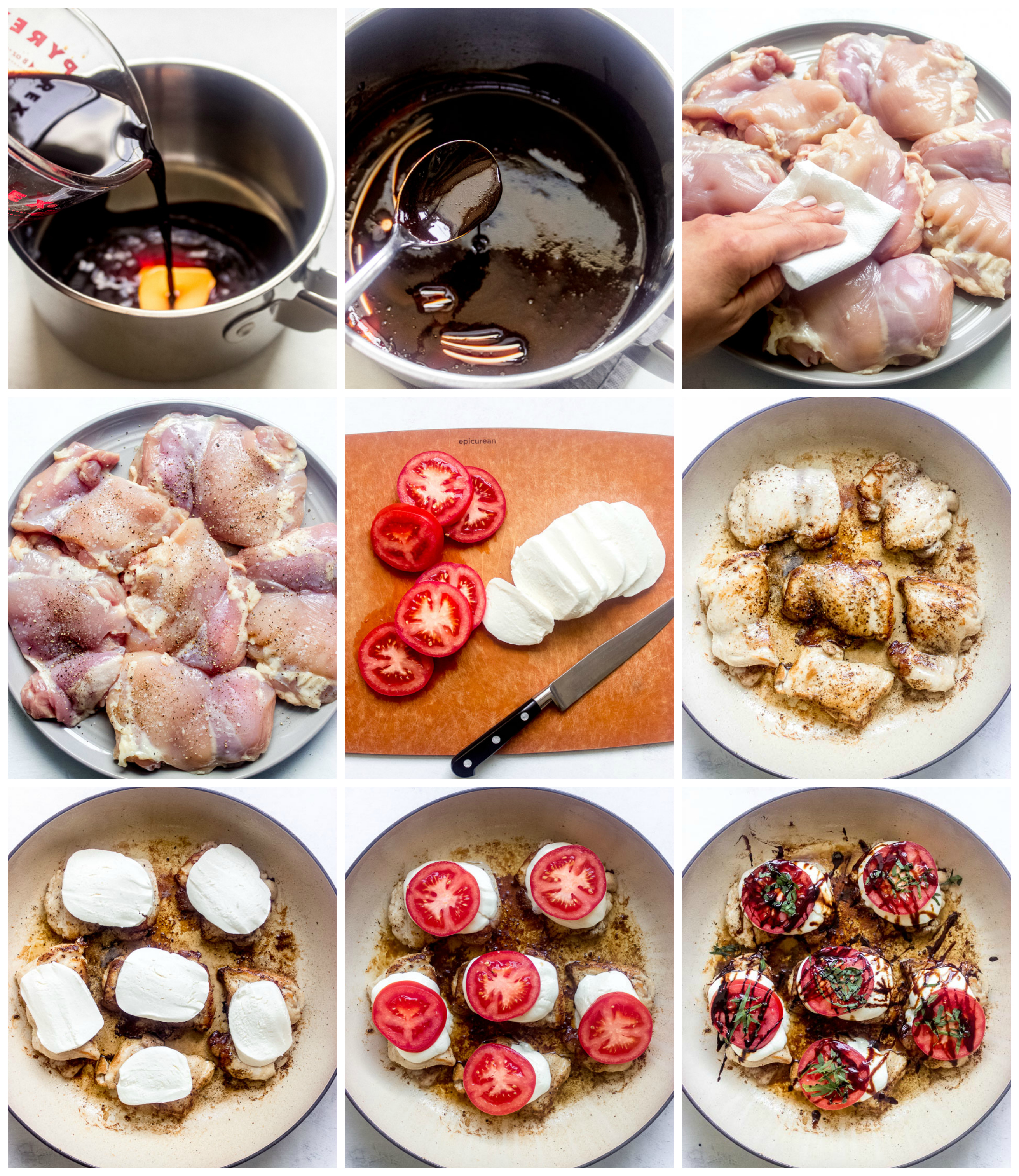 Step by step on how to make easy chicken caprese