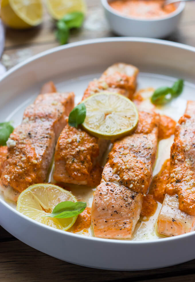 Slow-Roasted Salmon With Spring Herb Sauce Recipe — Dishmaps