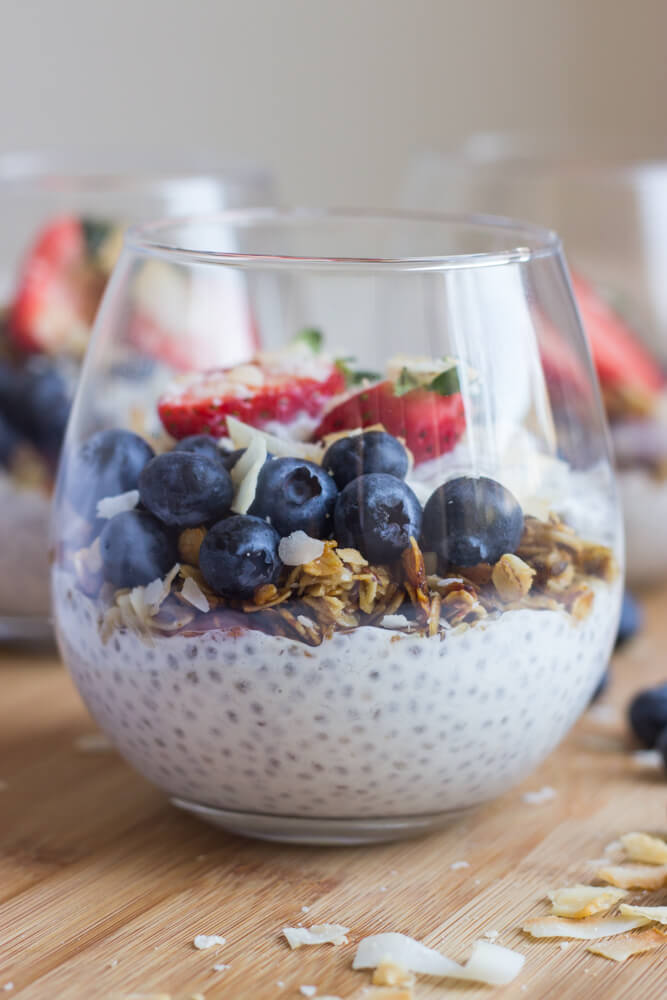 Vanilla Greek Yogurt Chia Seed Pudding
