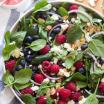 Very Berry Spinach Salad with Raspberry Vinaigrette