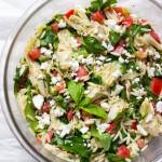 Artichoke Spinach Orzo Salad