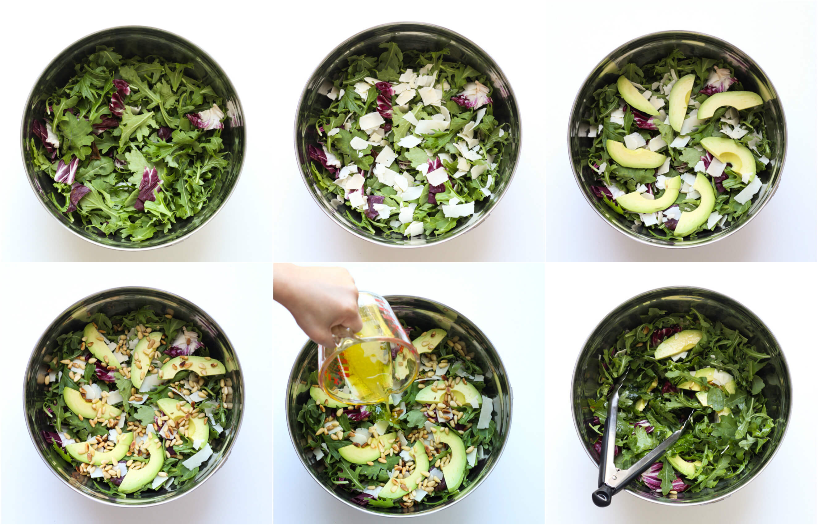 how to make kale and arugula salad recipe