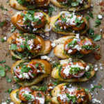 BBQ Shrimp Crostini with Basil Pesto and Feta
