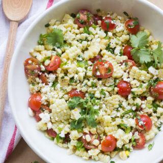 Fresh Sweet Corn Salad with Tomatoes and Feta