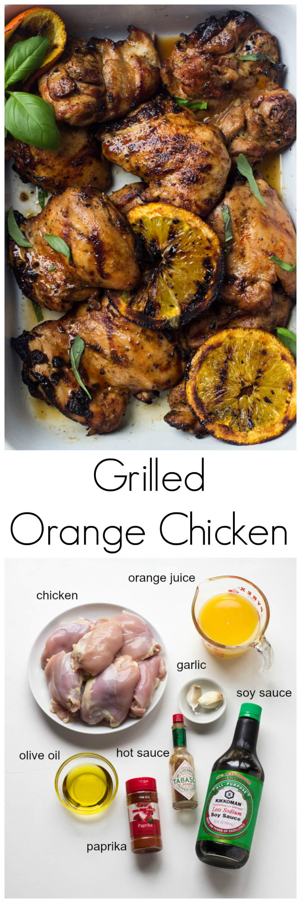 Grilled Orange Chicken Recipe - family favorite chicken recipe that is a must during the grilling season! | littlebroken.com @littlebroken