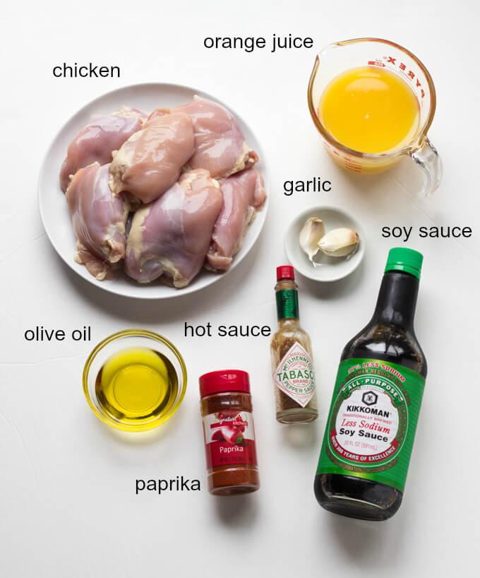 Grilled Orange Chicken Recipe - family favorite chicken recipe that is a must during the grilling season! | littlebroken.com @littlebroken