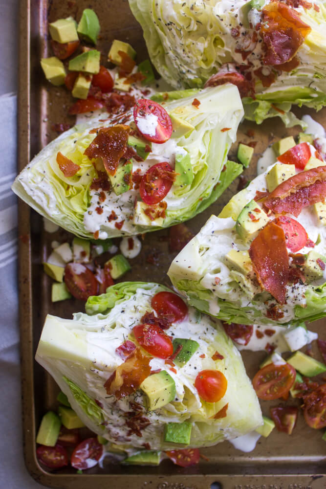 California Wedge Salad with Prosciutto Crumbles and Buttermilk Ranch Dressing | littlebroken.com @littlebroken