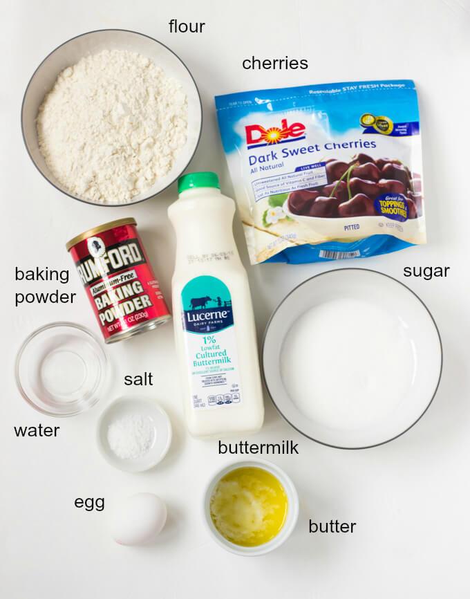 Favorite Buttermilk Pancakes with Cherry Syrup - weekend breakfast pancakes with homemade cherry syrup   littlebroken.com @littlebroken