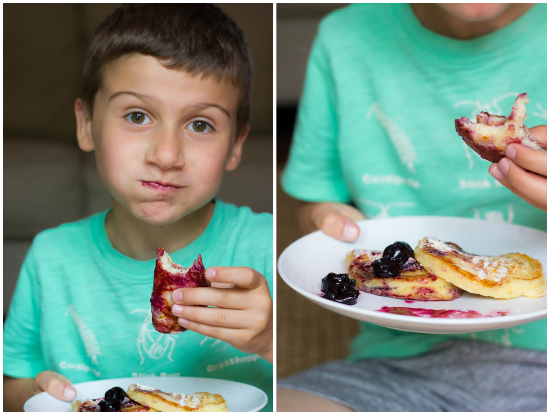 Favorite Buttermilk Pancakes with Cherry Syrup - weekend breakfast pancakes with homemade cherry syrup | littlebroken.com @littlebroken