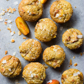 Coconut Peach Muffins