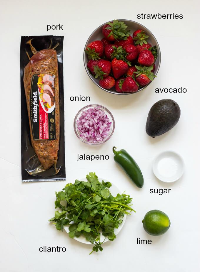 Peppercorn Garlic Pork Tenderloin with Strawberry Avocado Salsa | littlebroken.com @littlebroken