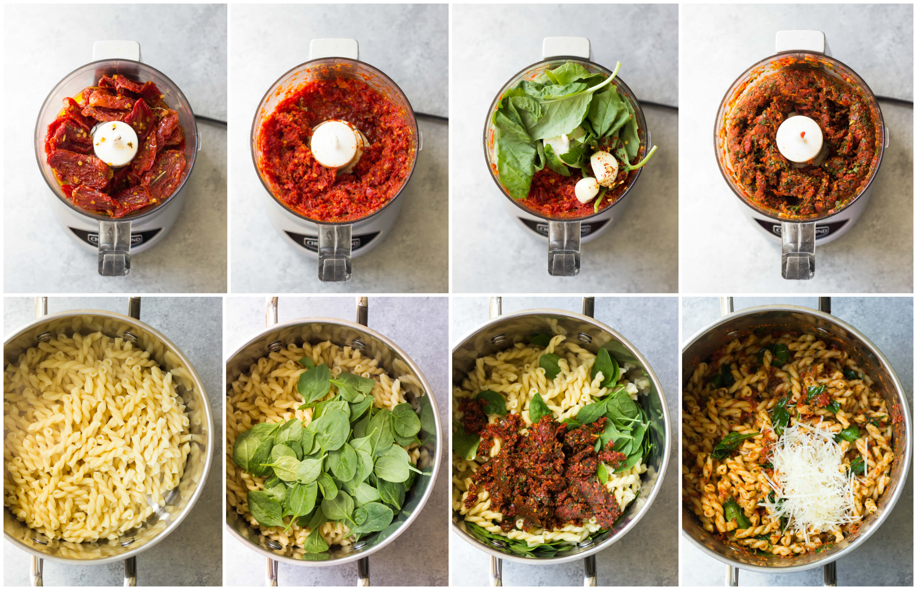 20-Minute Sun-Dried Tomato Pasta with Spinach | Little Broken