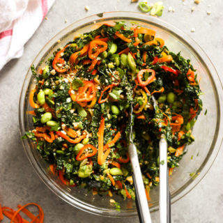 Chopped Kale Salad with Peanut-Chili Vinaigrette