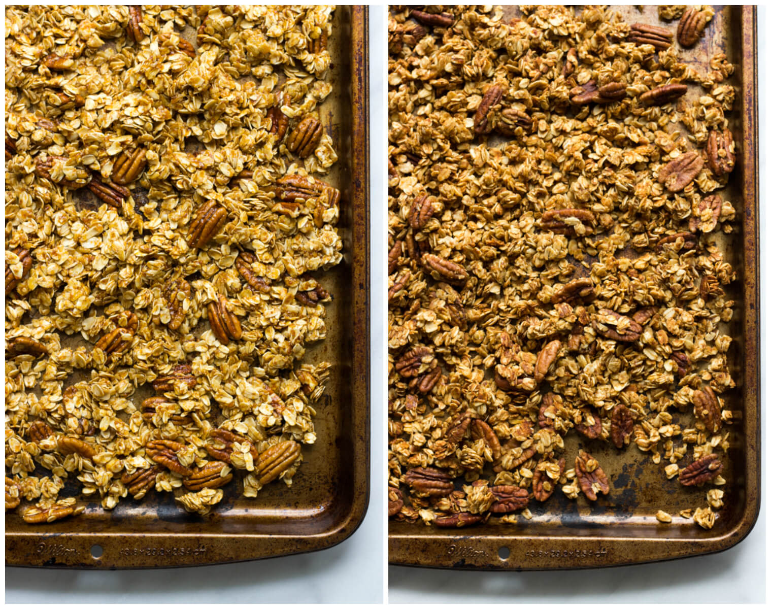 Pumpkin Pecan Granola - crunchy, lightly sweetened, and flavored with pumpkin! | littlebroken.com @littlebroken