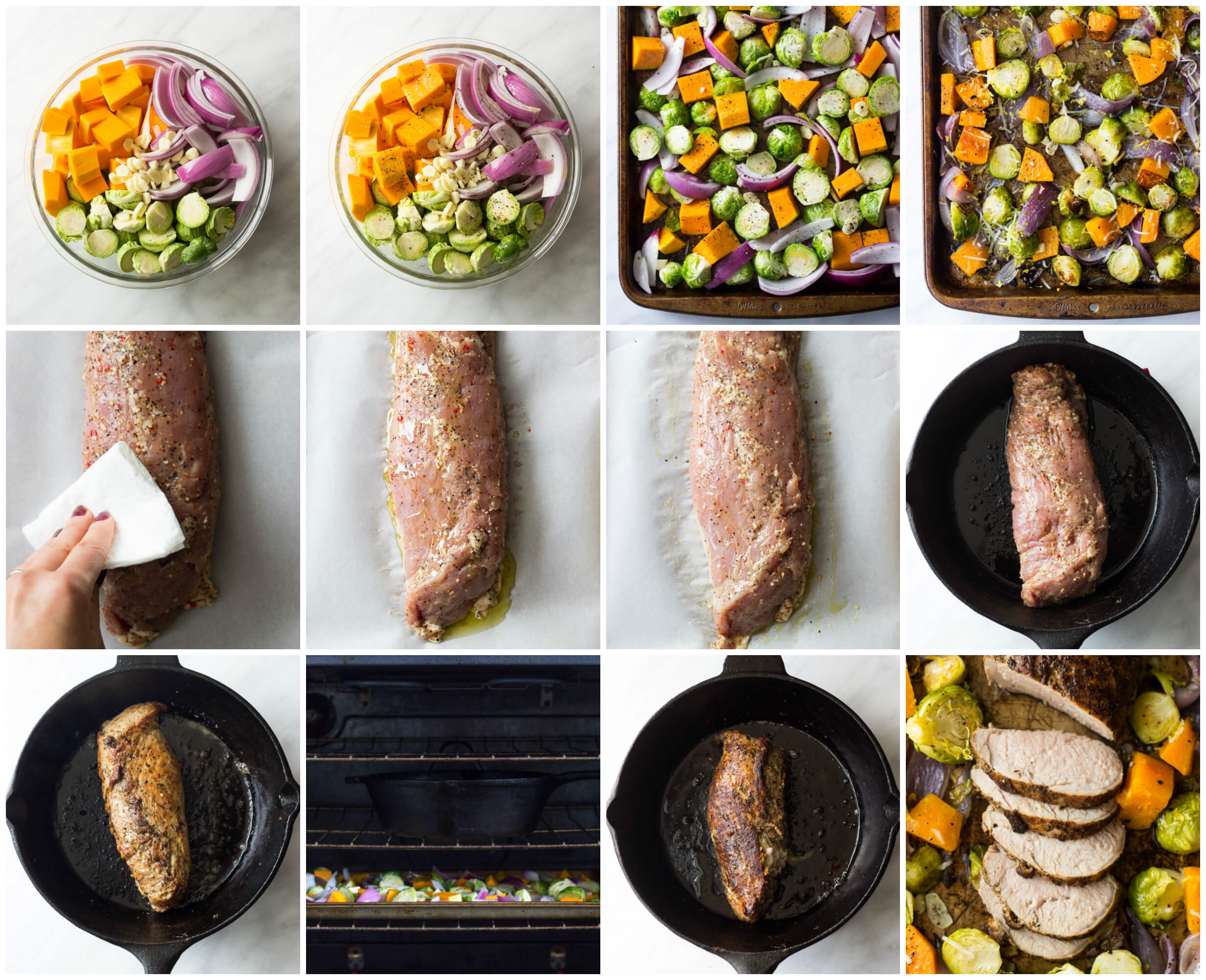 Oven Roasted Pork Tenderloin with Fall Vegetables - easy almost one ...