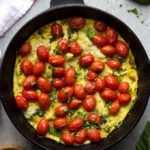 Sausage and Artichoke Frittata with Blistered Tomatoes