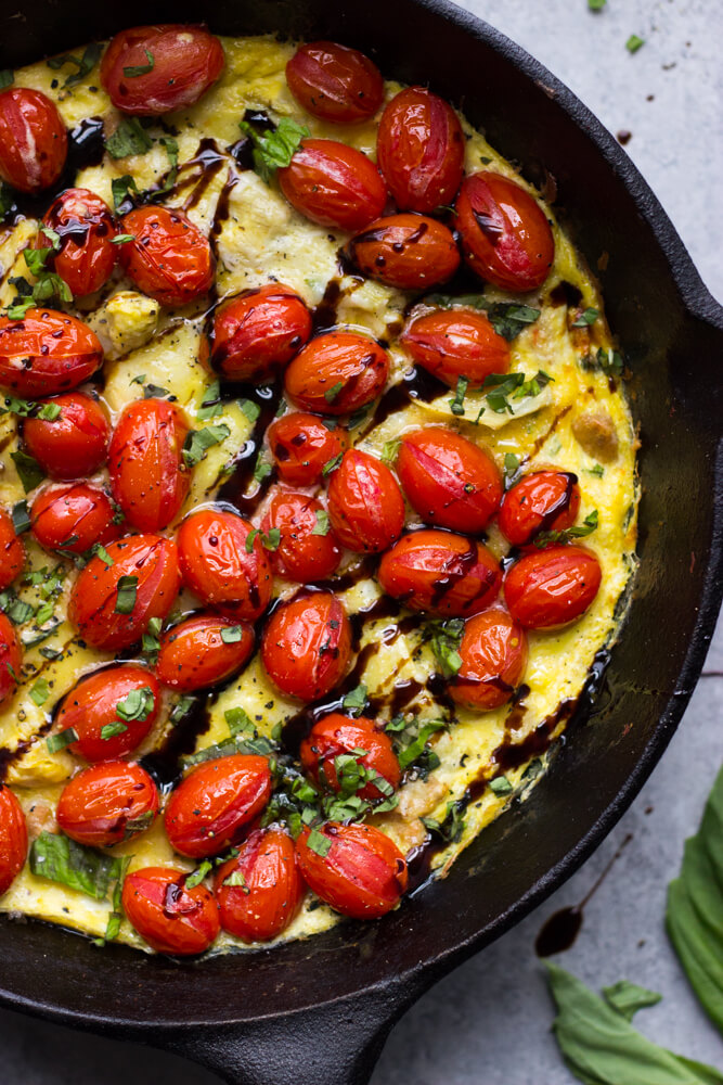 Sausage and Artichoke Frittata with Blistered Tomatoes ...