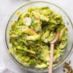 Avocado and Apple Brussels Sprout Salad