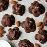 Peanut Butter and Chocolate Almond Clusters with Sea Salt