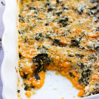 Sweet Potato and Kale Bake + GIVEAWAY