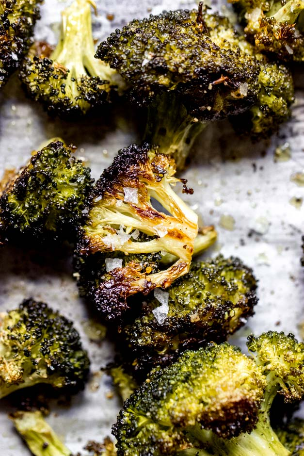 4 Ingredient Oven Roasted Broccoli Little Broken