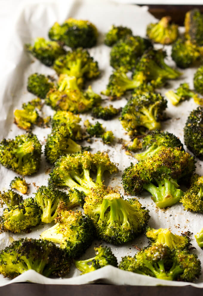 Easy Oven Roasted Broccoli - by far the best tasting broccoli with only 4 ingredients   littlebroken.com @littlebroken