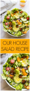 Our House Salad Recipe - the most easiest and delicious every day salad with zesty dressing | littlebroken.com @littlebroken