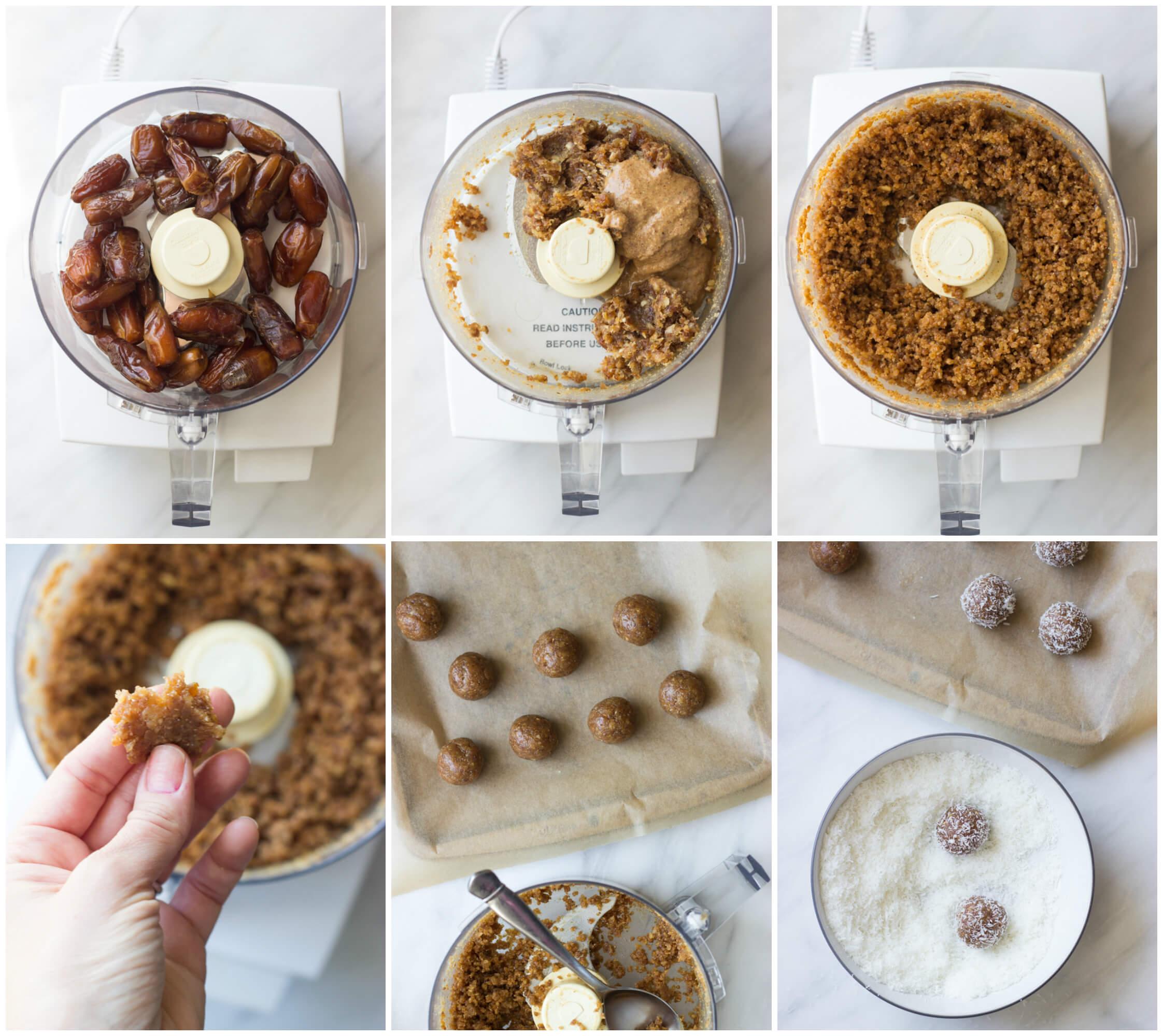 3-Ingredient Coconut Date Bites - slechts drie eenvoudige ingrediënten om deze paleo en vegan friendly dessert te maken | littlebroken.com @littlebroken