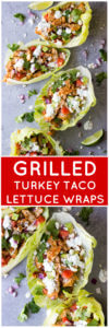 Grilled Turkey Taco Lettuce Wraps - low carb turkey lettuce wraps that are not only healthy but super easy to make | littlebroken.com @littlebroken