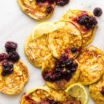 Lemon Ricotta Pancakes with Fruit Syrup
