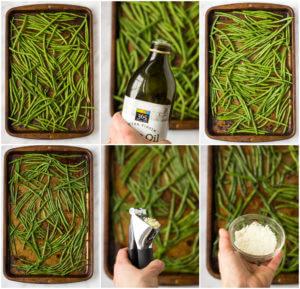 Roasted Garlic Green Beans - only 4 ingredients to make these addictive green beans! | littlebroken.com @littlebroken
